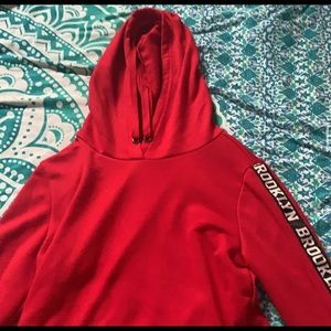 red cropped hoodie from rue 21